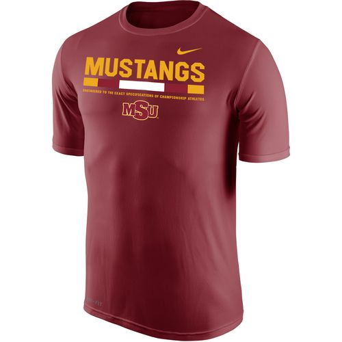 Nike Men's Midwestern State University Dri-FIT Legend 2.0 Short Sleeve T-shirt