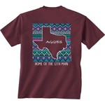 New World Graphics Women's Texas A&M University Terrain State T-shirt - view number 1