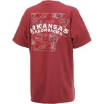 New World Graphics Women's University of Arkansas Comfort Color Puff Arch T-shirt - view number 2