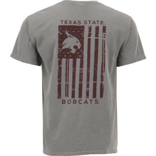 Image One Men's Texas State University Distressed Flag T-shirt