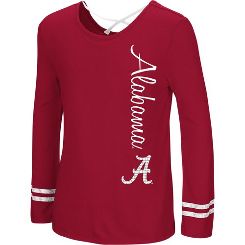 Colosseum Athletics Girls' University of Alabama Marks the Spot Strappy Back Long Sleeve T-shirt