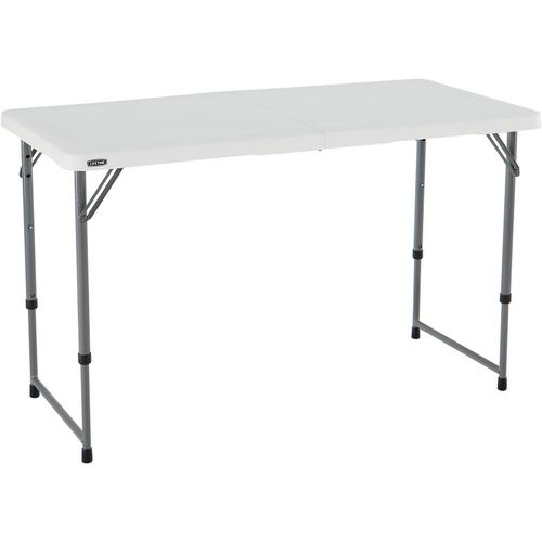 Lifetime 4 ft Light Commercial Adjustable-Height Fold-In-Half Table - view number 1