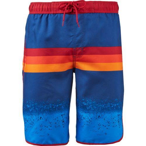O'Rageous Men's Swim Print Surfboard Scalloped Boardshorts