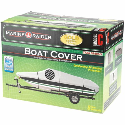 Marine Raider Gold Series Model C Boat Cover For 16' - 18.5' Fish And Ski Pro-Style Bass Boats - view number 1