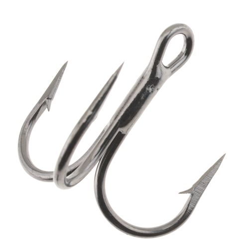 Eagle Claw Lazer 4X Short Shank Round Bend Treble Hooks 5-Pack - view number 1
