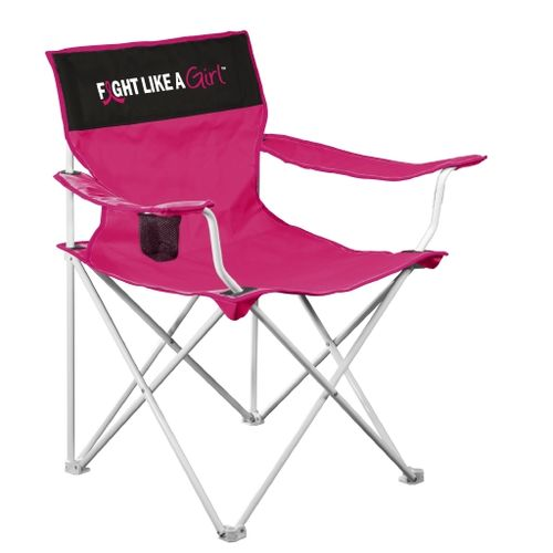 Logo Chair Fight Like a Girl Canvas Chair