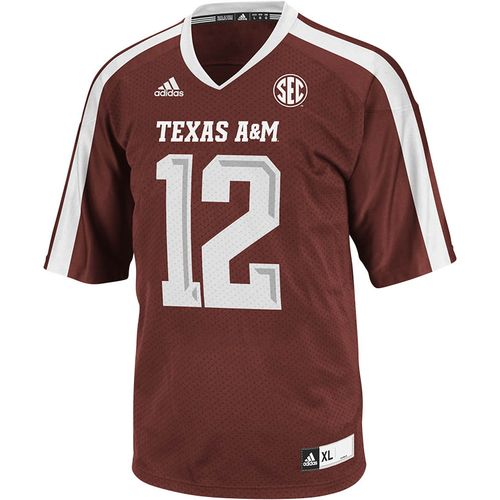 adidas™ Men's Texas A&M University Replica Football Jersey