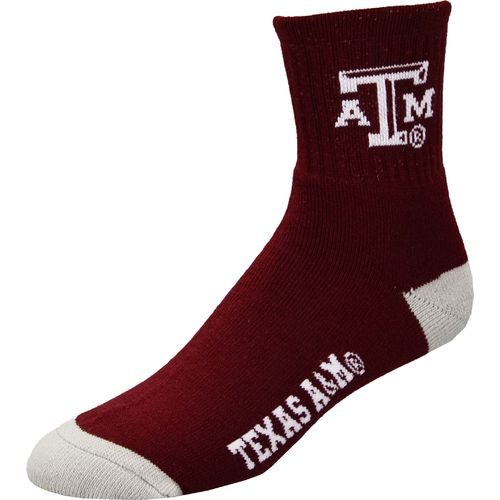 For Bare Feet Men's Texas A&M University Quarter Socks