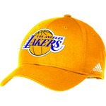 adidas Adults' Los Angeles Lakers Structured Adjustable Cap
