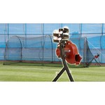 Trend Sports BaseHit Pitching Machine with Xtender 24 Home Batting Cage