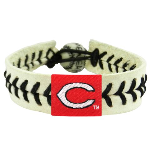 GameWear Adults' Cincinnati Reds Genuine Baseball Bracelet