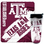 NCAA Texas A&M University Mug and Snug Fleece Throw and Travel Tumbler Gift Set