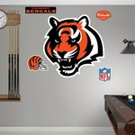 Fathead Cincinnati Bengals Logo and Team Decals 5-Pack