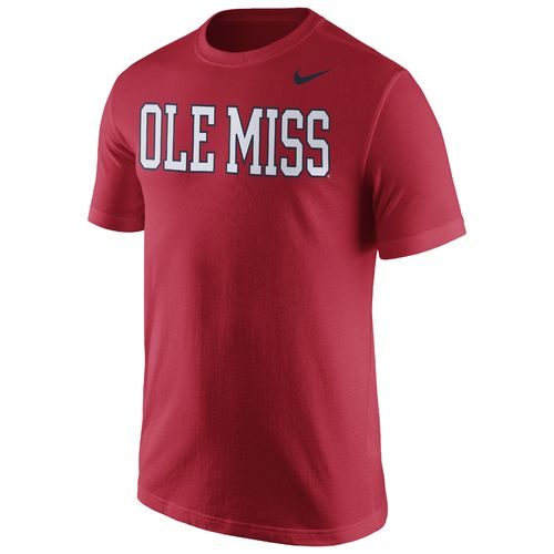 Nike™ Men's University of Mississippi Cotton Short Sleeve Wordmark T-shirt - view number 1