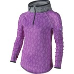 Nike Girls' Pro Hyperwarm Flash Allover Print 1/2 Zip Training Hoodie