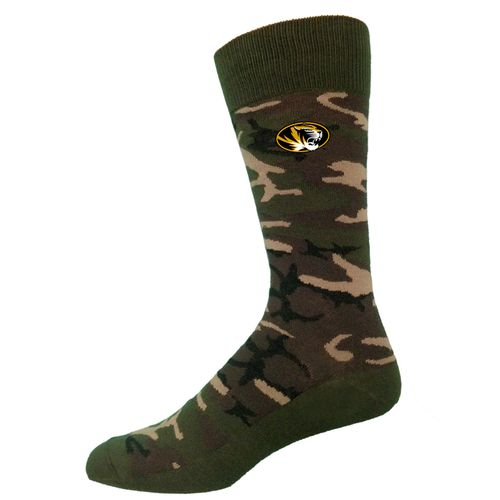 Two Feet Ahead Men's University of Missouri Camouflage Crew Socks