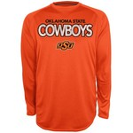 Majestic Men's Oklahoma State University Section 101 Raglan Heather Synthetic T-shirt