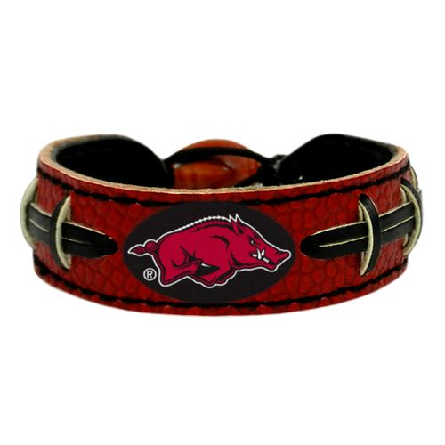 GameWear University of Arkansas Team Color Football Bracelet