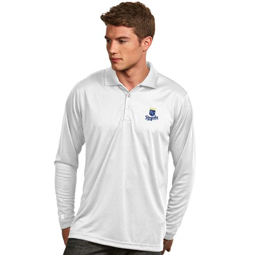 Antigua Men's Kansas City Royals Exceed Long Sleeve Polo Shirt - view number 1