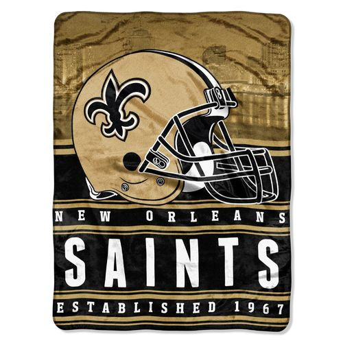 The Northwest Company New Orleans Saints Stacked Silk Touch Throw