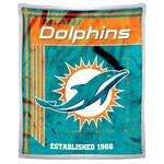 The Northwest Company Miami Dolphins Old School Mink with Sherpa Throw