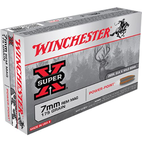 Display product reviews for Winchester Super-X 7mm Remington Magnum 175-Grain Power-Point Centerfire Rifle Ammunition