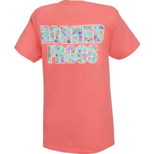 New World Graphics Texas Christian University Floral T-shirt