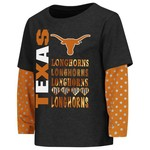 Colosseum Athletics Toddler Girls' University of Texas Super Cool Layered T-shirt