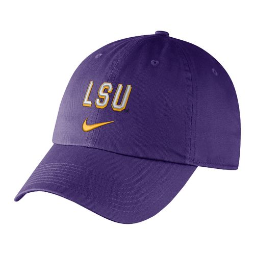 Nike™ Men's Louisiana State University Heritage86 Wordmark Swoosh Flex Cap - view number 1