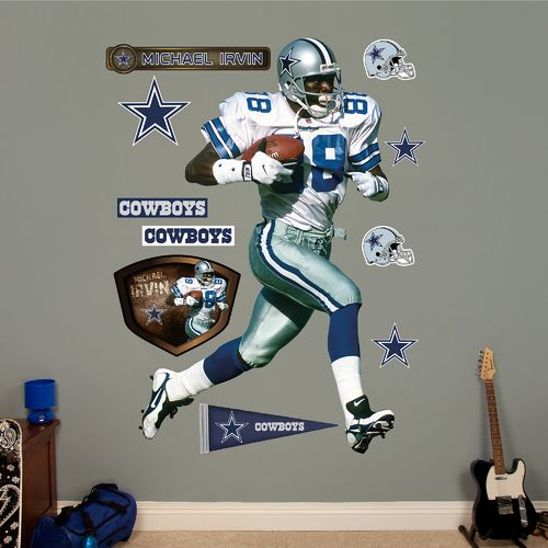 Fathead Dallas Cowboys Michael Irvin Real Big Wall Decal