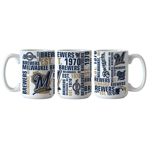 Boelter Brands Milwaukee Brewers Spirit 15 oz. Coffee Mugs 2-Pack