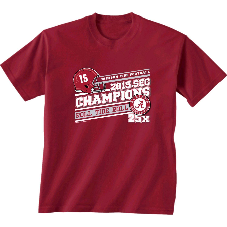 New World Graphics Boys' University of Alabama 2015 SEC Championship T-shirt