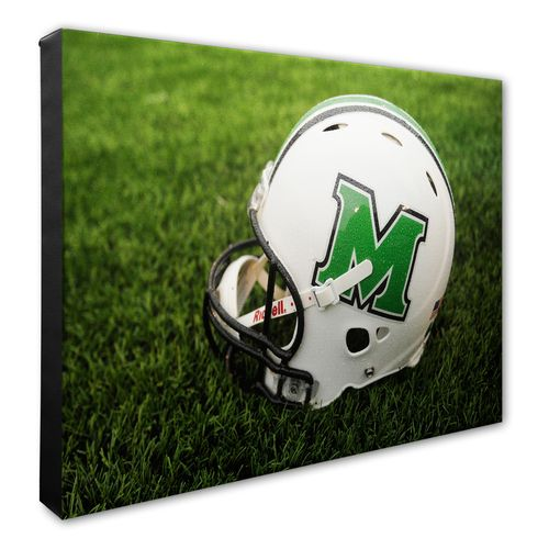 Photo File Marshall University Helmet Stretched Canvas Photo