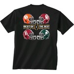 New World Graphics Men's College Football Playoff 2015 4 Team Helmet T-shirt