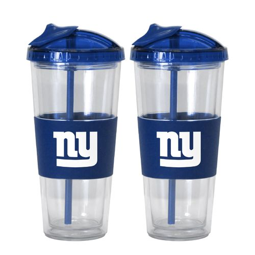 Boelter Brands New York Giants 22 oz. No-Spill Straw Tumblers 2-Pack