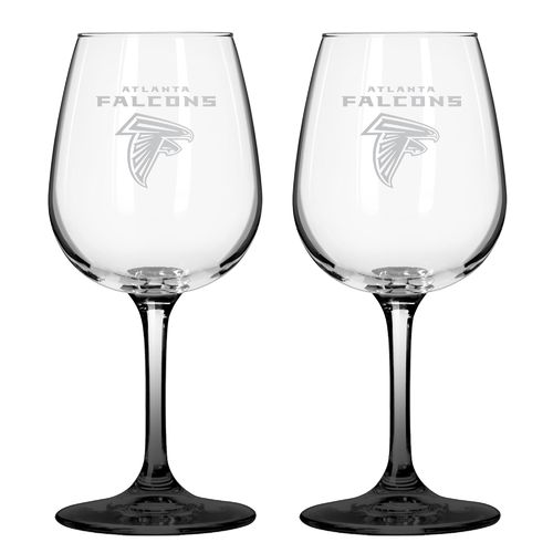 Boelter Brands Atlanta Falcons 12 oz. Wine Glasses 2-Pack