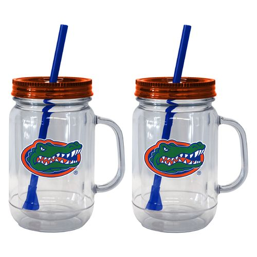 Boelter Brands University of Florida 20 oz. Handled Straw Tumblers 2-Pack