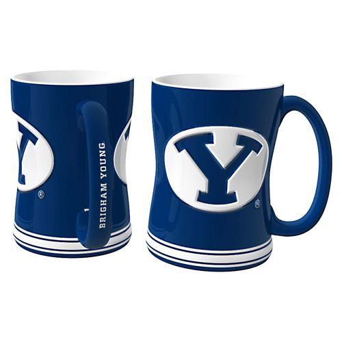 Boelter Brands Brigham Young University 14 oz. Relief Mugs 2-Pack