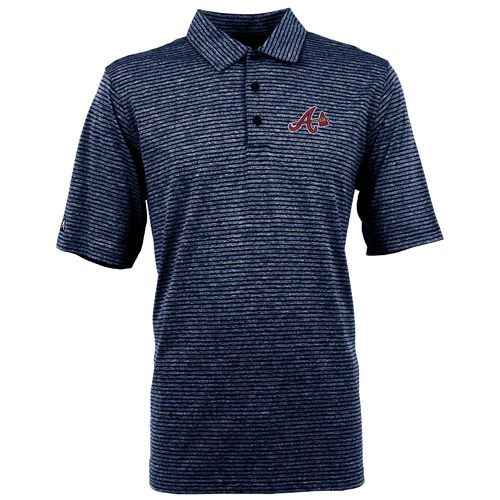Antigua Men's Atlanta Braves Finish Polo Shirt