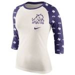 Nike Women's Texas Christian University Veer Raglan T-shirt