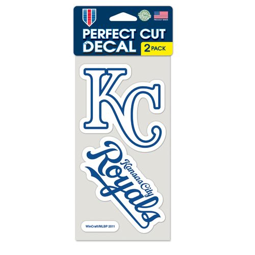 WinCraft Kansas City Royals Perfect Cut Decals 2-Pack