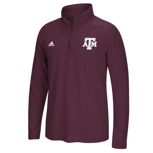adidas™ Men's Texas A&M University climalite® Ultimate 1/4 Zip Pullover