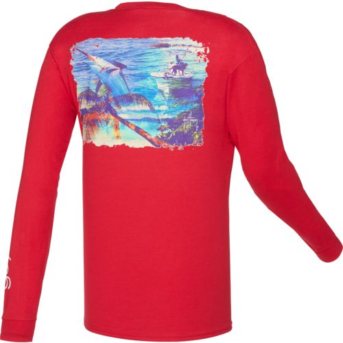 Guy Harvey Men's What It's All About Long Sleeve Pocket T-shirt