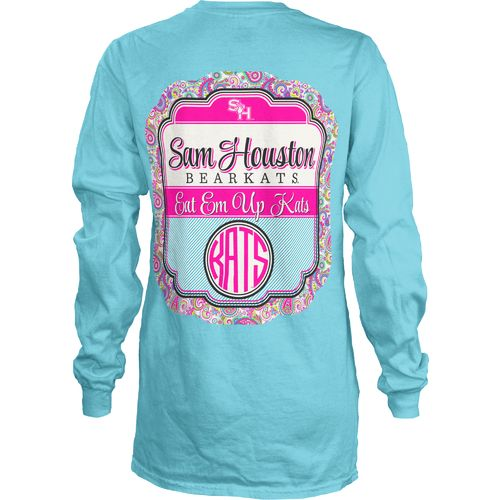 Three Squared Juniors' Sam Houston State University Paisley Frame T-shirt