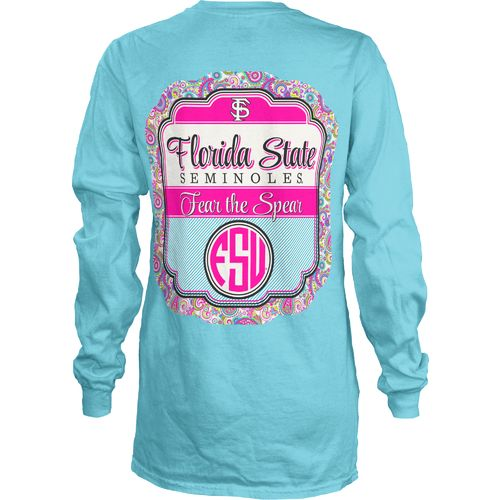 Three Squared Juniors' Florida State University Paisley Frame T-shirt