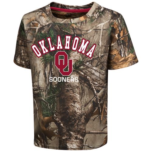 Colosseum Athletics™ Toddler Boys' University of Oklahoma Blacktail Camo T-shirt