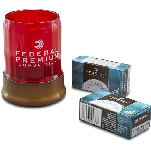 Display product reviews for Federal Premium® .22 LR 40-Grain Rimfire Ammunition and Champion Can Cooler Combo