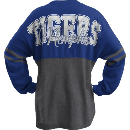Three Squared Juniors' University of Memphis Varsity Script Logo Sweeper T-shirt