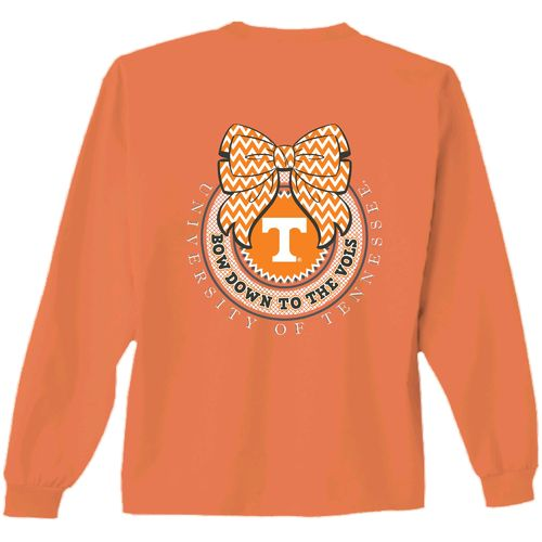 New World Graphics Women's University of Tennessee Ribbon Bow Long Sleeve T-shirt