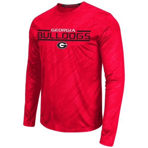 Colosseum Athletics™ Men's University of Georgia Sleet Embossed Long Sleeve T-shirt - view number 1